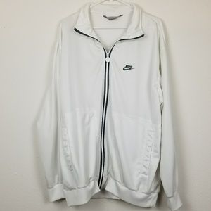 Nike white zip up jacket XL